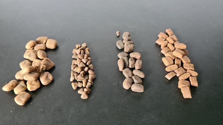 Die Marken (von links) Bosch, Premiere, Landfleisch und PLATINUM unterscheiden sich stark.