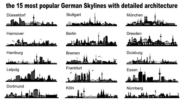 Deutschland bekannteste Städte und überall kosten die Hunde unterschiedlich