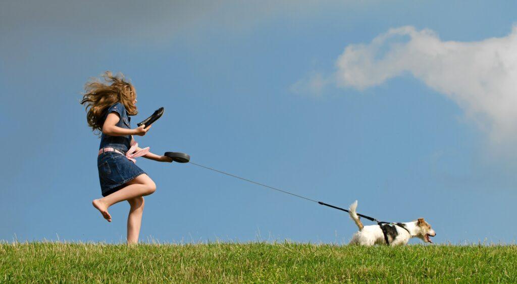 Warum zieht der Hund an der Leine? Das fragt sich die Frau an der Leine bestimmt auch